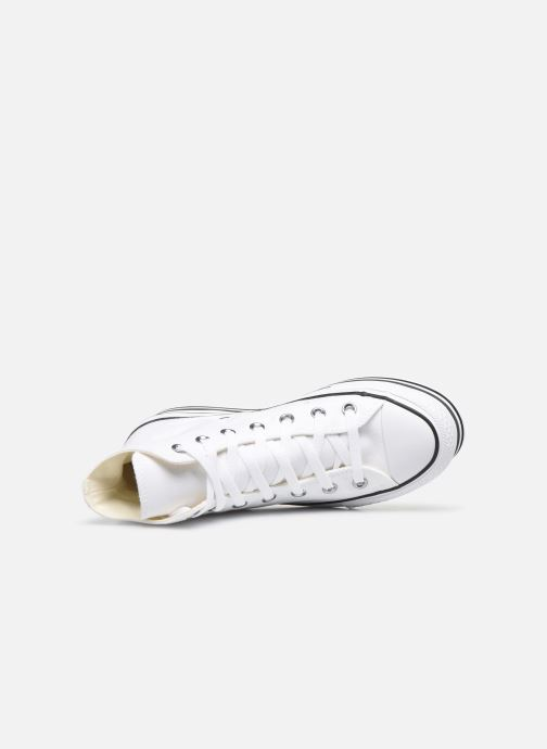 Deportivas Converse Chuck Taylor All Star Platform Layer Eva Layers Hi Blanco vista lateral izquierda