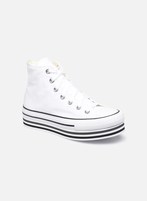 Baskets Converse Chuck Taylor All Star Platform Layer Eva Layers Hi Blanc vue détail/paire