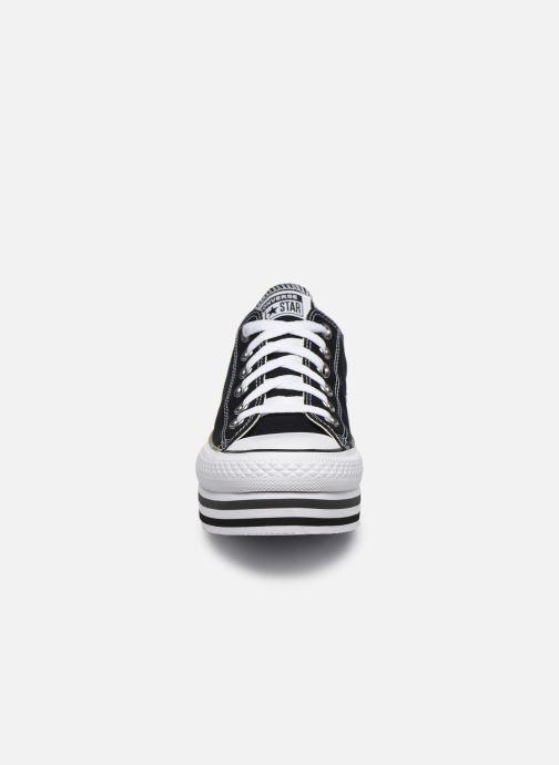 Baskets Converse Chuck Taylor All Star Platform Layer EVA Layers Ox Noir vue portées chaussures