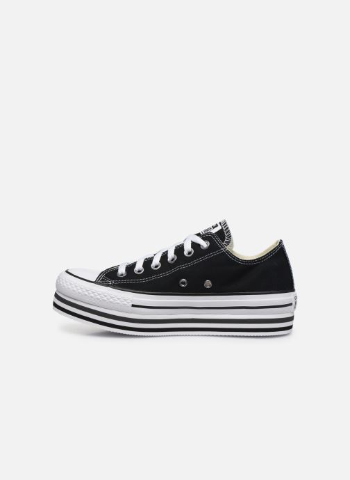 Sneakers Converse Chuck Taylor All Star Platform Layer EVA Layers Ox Nero immagine frontale