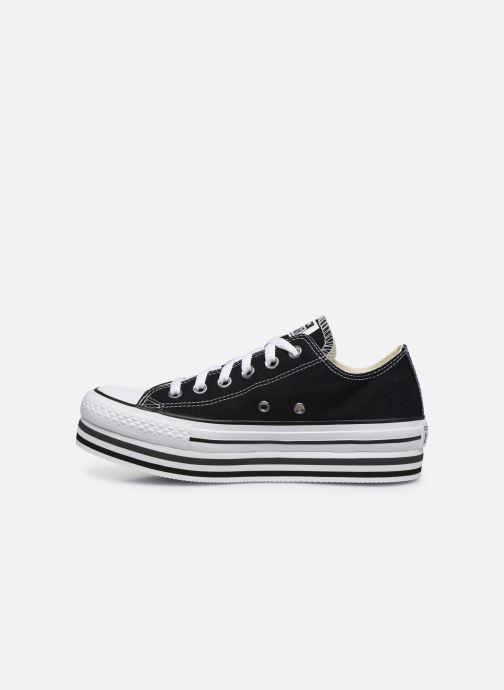 Sneaker Converse Chuck Taylor All Star Platform Layer EVA Layers Ox schwarz ansicht von vorne