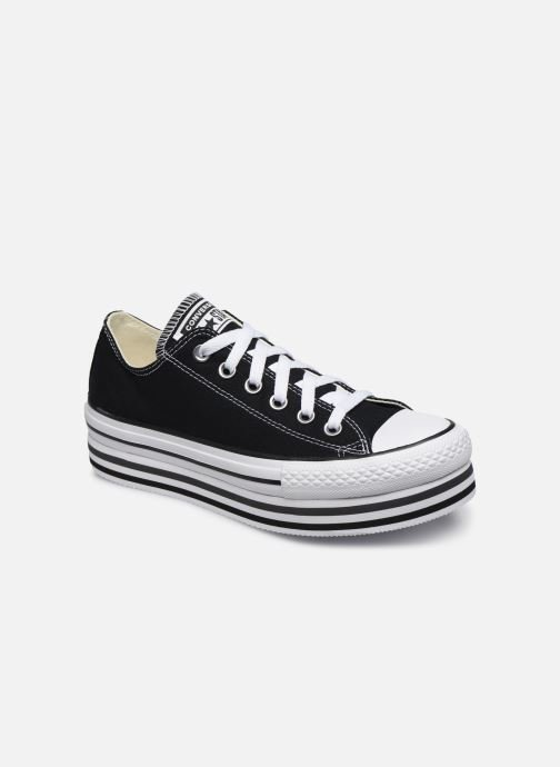 Baskets Converse Chuck Taylor All Star Platform Layer EVA Layers Ox Noir vue détail/paire