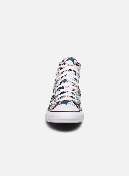 Baskets Converse Chuck Taylor All Star Logo Play Hi M Noir vue portées chaussures