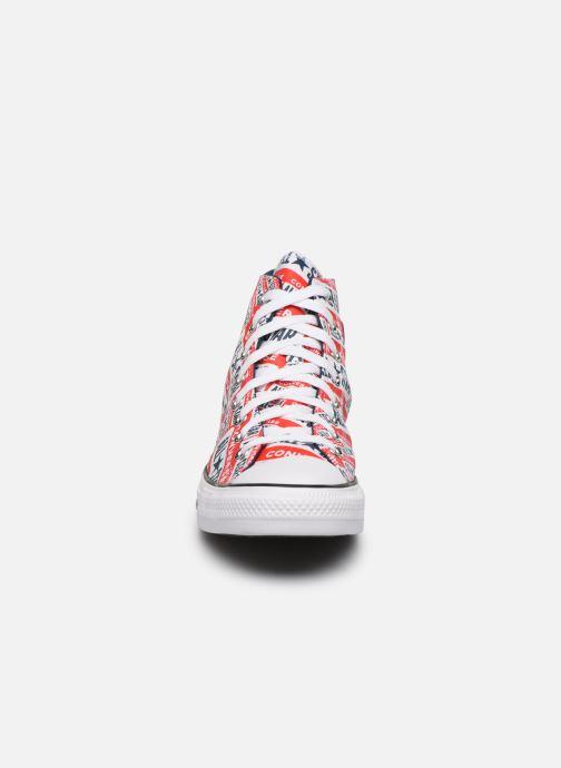 Baskets Converse Chuck Taylor All Star Logo Play Hi M Rouge vue portées chaussures