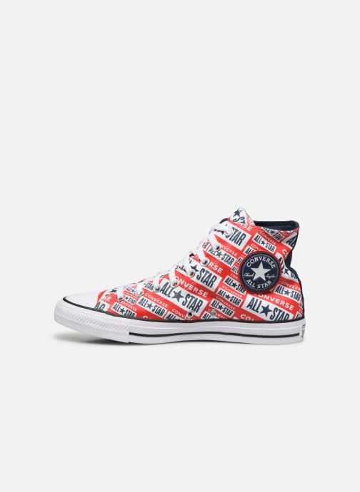 Baskets Converse Chuck Taylor All Star Logo Play Hi M Rouge vue face