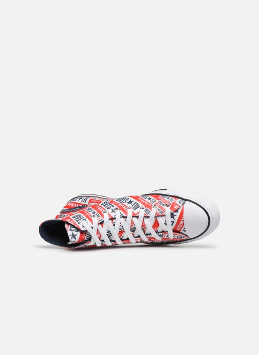 Baskets Converse Chuck Taylor All Star Logo Play Hi M Rouge vue gauche