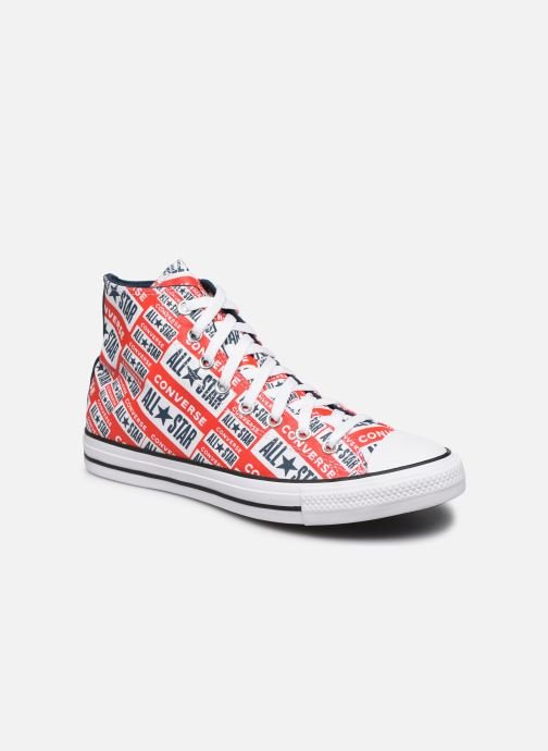 Baskets Converse Chuck Taylor All Star Logo Play Hi M Rouge vue détail/paire