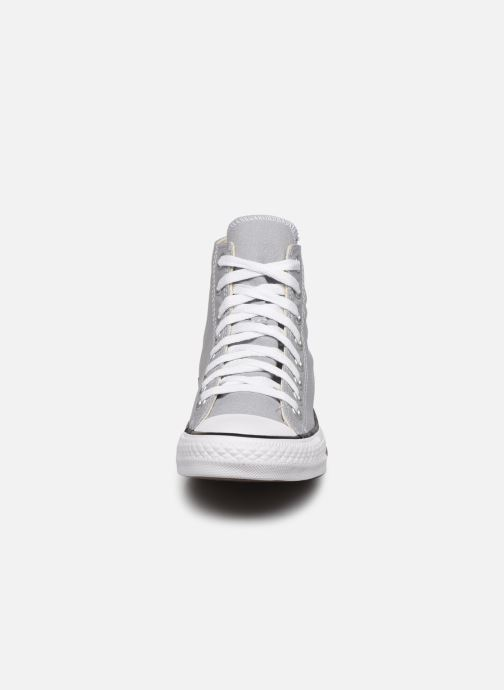 Baskets Converse Chuck Taylor All Star Seasonal Color Hi M Gris vue portées chaussures