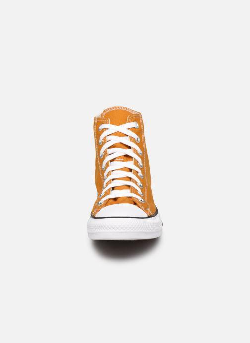 Baskets Converse Chuck Taylor All Star Seasonal Color Hi M Marron vue portées chaussures