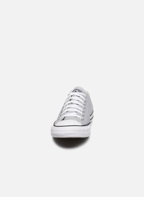 Baskets Converse Chuck Taylor All Star Seasonal Color Ox M Gris vue portées chaussures