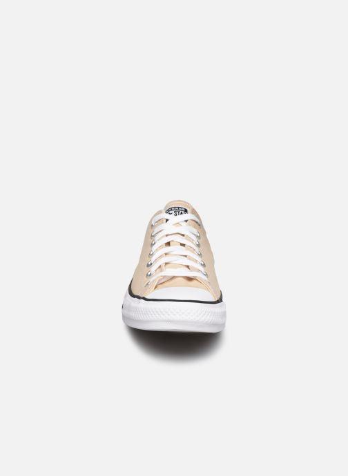 Baskets Converse Chuck Taylor All Star Seasonal Color Ox M Beige vue portées chaussures