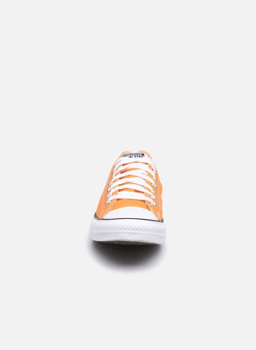 Baskets Converse Chuck Taylor All Star Seasonal Color Ox M Orange vue portées chaussures