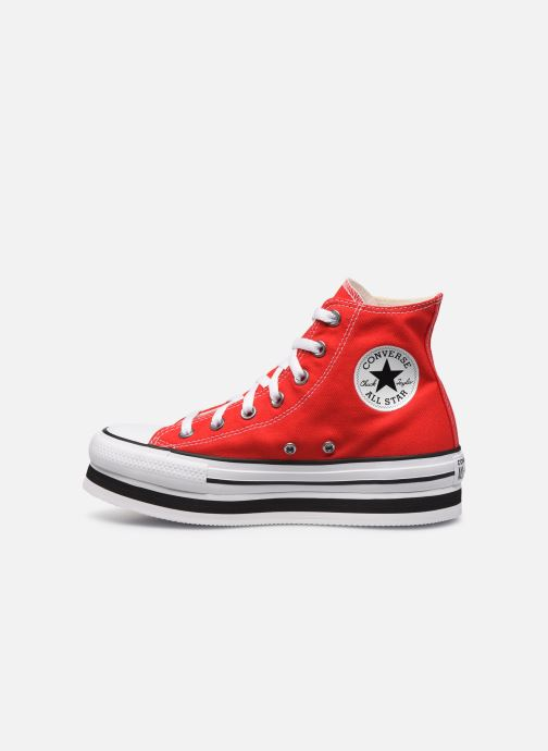 Baskets Converse Chuck Taylor All Star Layer Bottom Everyday Ease Hi Rouge vue face