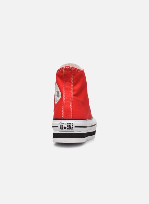Baskets Converse Chuck Taylor All Star Layer Bottom Everyday Ease Hi Rouge vue droite
