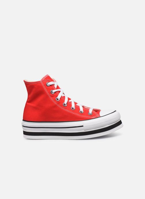 Baskets Converse Chuck Taylor All Star Layer Bottom Everyday Ease Hi Rouge vue derrière
