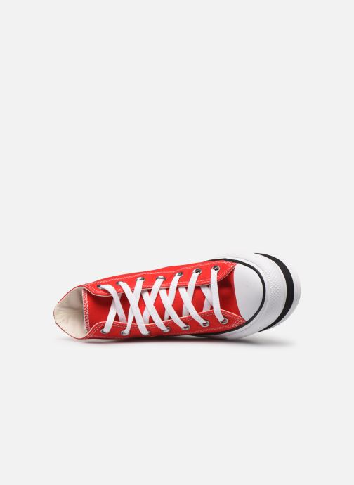 Baskets Converse Chuck Taylor All Star Layer Bottom Everyday Ease Hi Rouge vue gauche