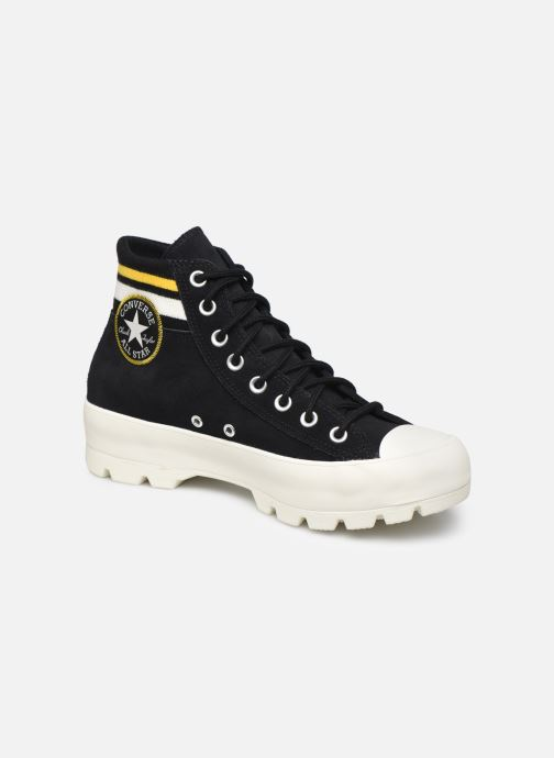 Baskets Converse Chuck Taylor All Star Lugged Varsity Remix Hi Noir vue détail/paire