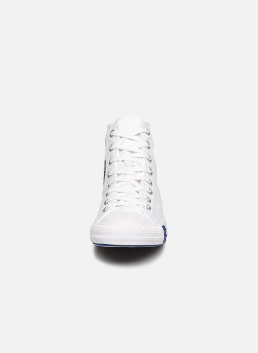 Baskets Converse Chuck Taylor All Star Logo Play Hi W Blanc vue portées chaussures