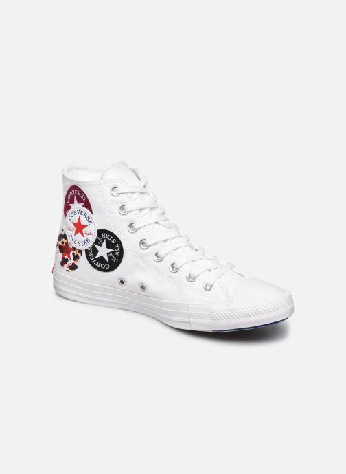 Converse Chuck Taylor All Star Logo Play Hi (Blanc) - Baskets chez ...