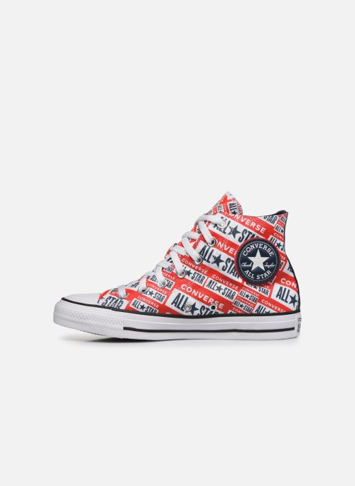 Baskets Converse Chuck Taylor All Star Logo Play Hi W Rouge vue face