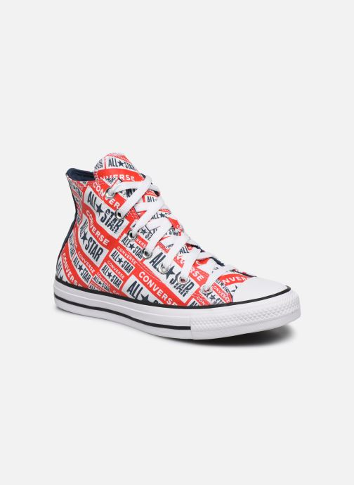 Baskets Converse Chuck Taylor All Star Logo Play Hi W Rouge vue détail/paire