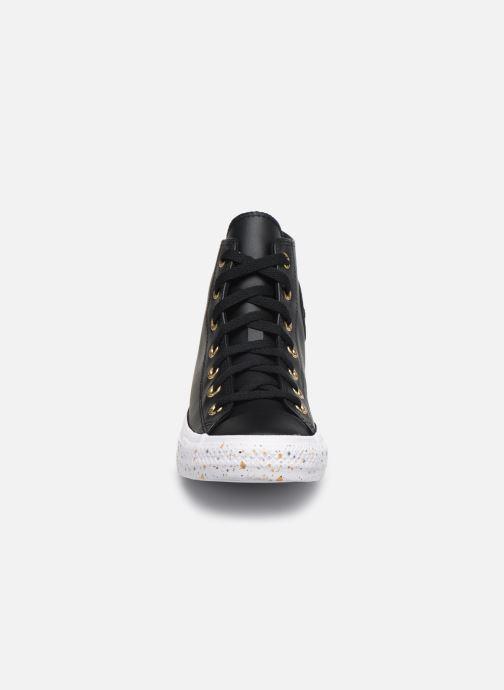 Baskets Converse Chuck Taylor All Star Precious Metals Hi Noir vue portées chaussures