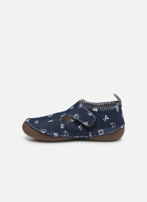 Slippers Vertbaudet BG - Chausson VB toile Blue front view
