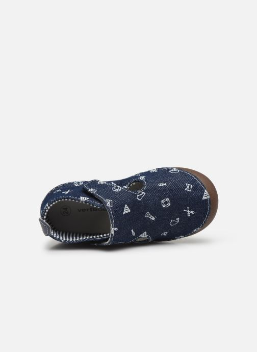Slippers Vertbaudet BG - Chausson VB toile Blue view from the left