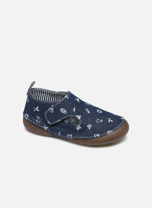 Slippers Vertbaudet BG - Chausson VB toile Blue detailed view/ Pair view
