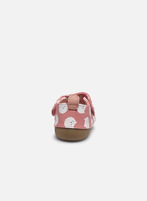 Pantofole Vertbaudet BB- Chaussons toile AOP mouton Rosa immagine destra