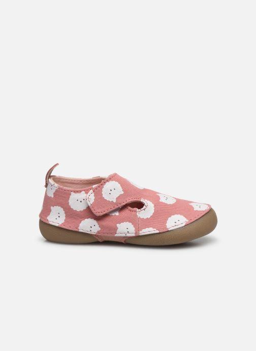 Pantofole Vertbaudet BB- Chaussons toile AOP mouton Rosa immagine posteriore