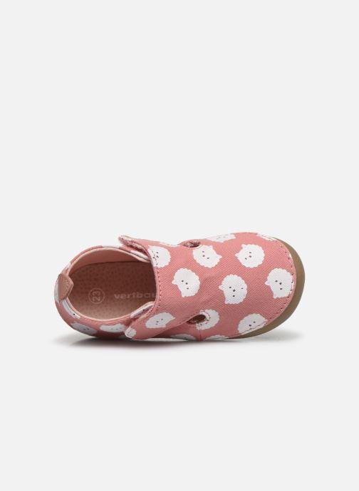 Pantofole Vertbaudet BB- Chaussons toile AOP mouton Rosa immagine sinistra