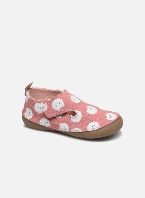Pantofole Vertbaudet BB- Chaussons toile AOP mouton Rosa vedi dettaglio/paio