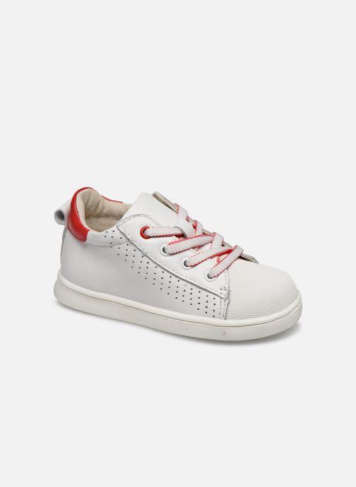 Sneaker Vertbaudet BG - Basket haute lacet zip weiß detaillierte ansicht/modell