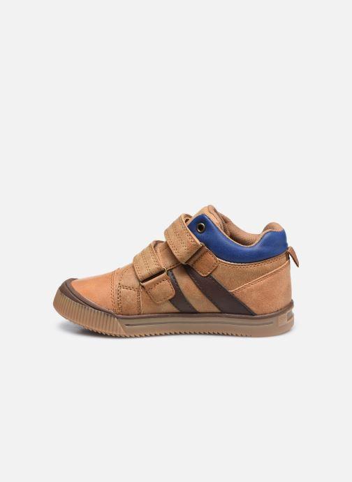 Sneakers Vertbaudet KG - Basket haute Marrone immagine frontale