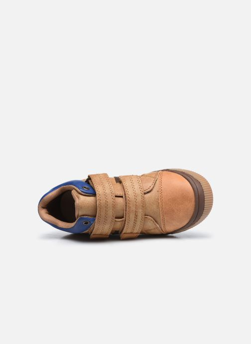 Sneakers Vertbaudet KG - Basket haute Marrone immagine sinistra