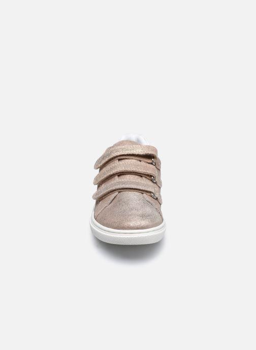 Baskets Vertbaudet KF - Basket basse Or et bronze vue portées chaussures