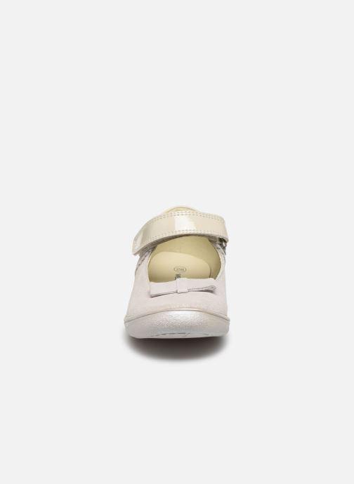 Ballerines Vertbaudet JF - Babies noeud cuir Argent vue portées chaussures