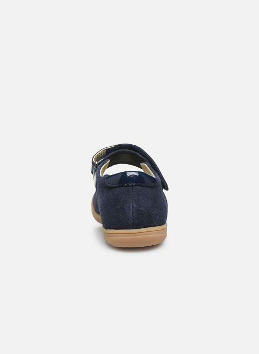 Bailarinas Vertbaudet JF - Babies noeud cuir Azul vista lateral derecha