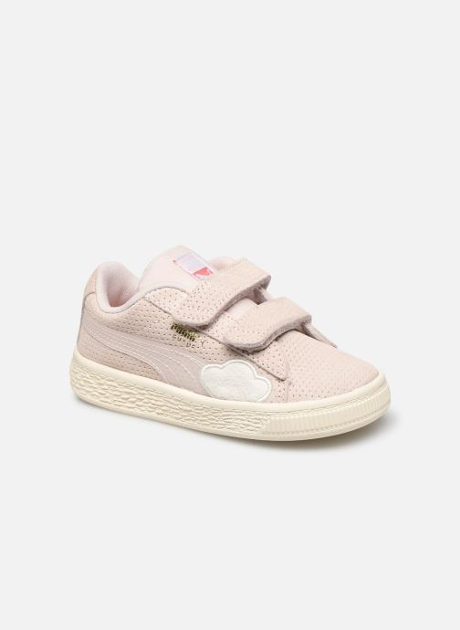 Baskets Puma Suede Cloud V Blanc vue détail/paire