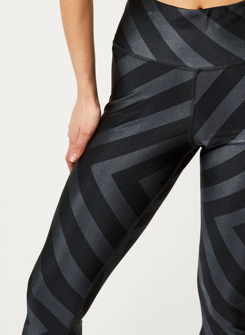 Vêtements adidas performance W Aop Tight Noir vue face