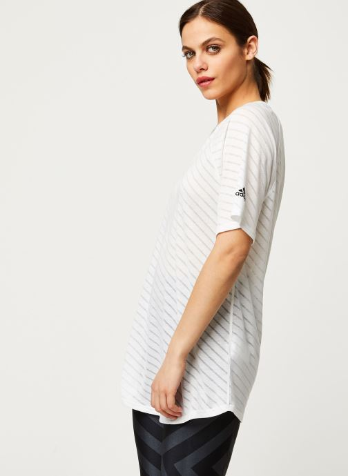 Kleding adidas performance W Burn Out Tee Wit detail