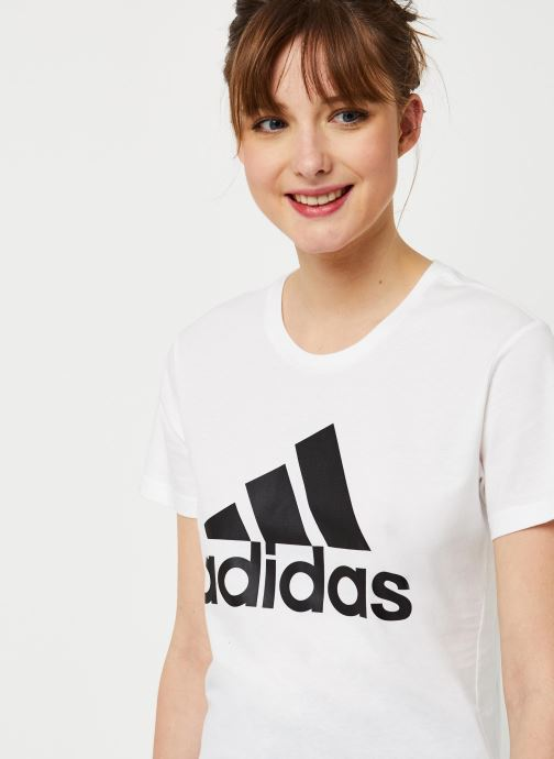 Kleding adidas performance W Bos Co Tee Wit voorkant