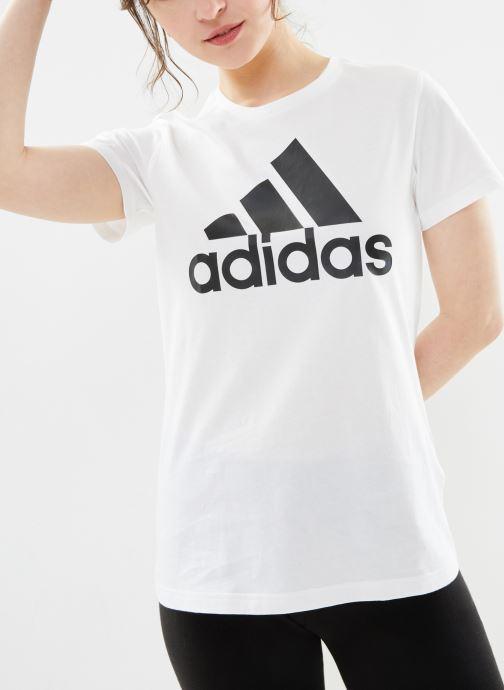 Vêtements adidas performance W Bos Co Tee Blanc vue droite