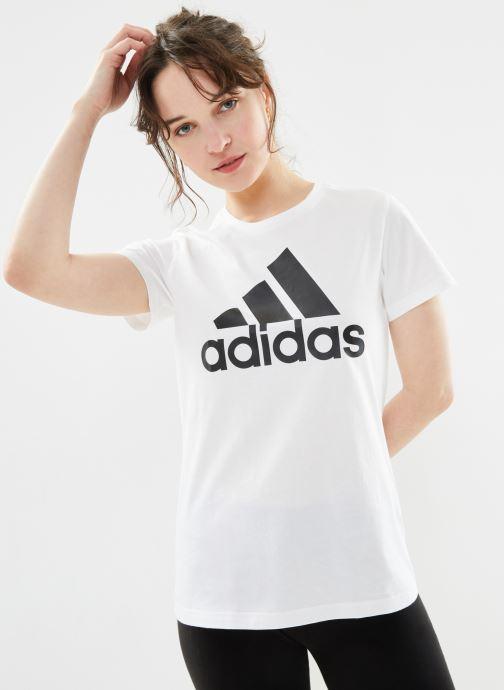 Vêtements adidas performance W Bos Co Tee Blanc vue détail/paire