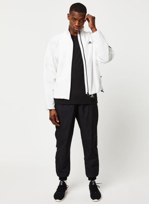 Vêtements adidas performance Bts Lined Jkt Blanc vue bas / vue portée sac