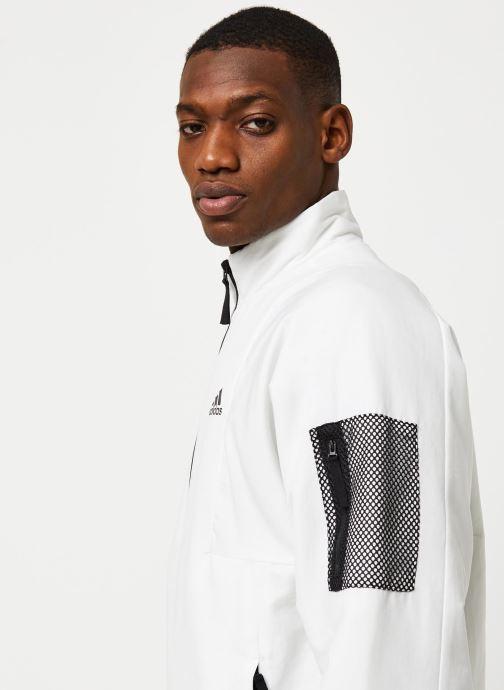 Vêtements adidas performance Bts Lined Jkt Blanc vue face