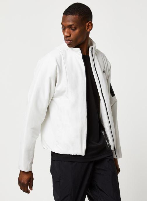 Vêtements adidas performance Bts Lined Jkt Blanc vue détail/paire