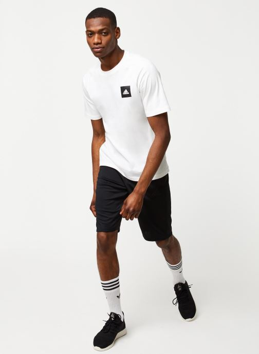 Vêtements adidas performance City Long Short Noir vue bas / vue portée sac