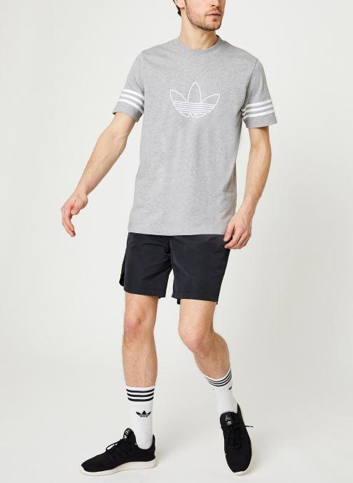 Vêtements adidas performance M Tech Shorts Noir vue bas / vue portée sac